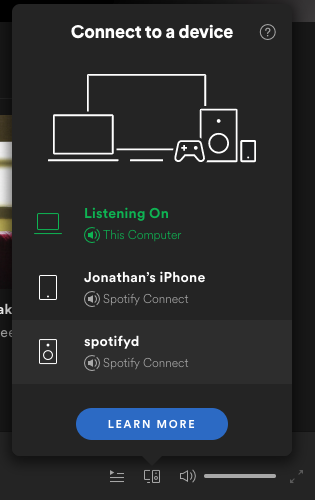 Spotify Connect with spotifyd visible